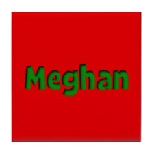 Meghan Red and Green Tile Coaster