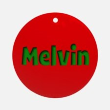 Melvin Red and Green Ornament (Round)