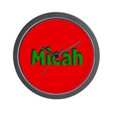 Micah Red and Green Wall Clock