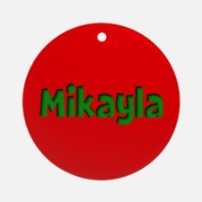 Mikayla Red and Green Ornament (Round)