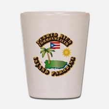 Puerto Rico - Island Paradise Shot Glass