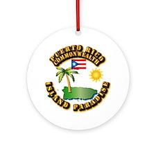 Puerto Rico - Island Paradise Ornament (Round)