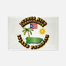 Puerto Rico - Island Paradise Rectangle Magnet