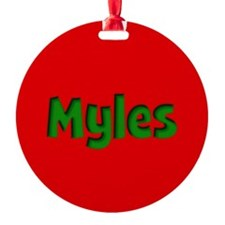 Myles Red and Green Ornament