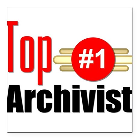 "Top Archivist Square Car Magnet 3"" x 3"""