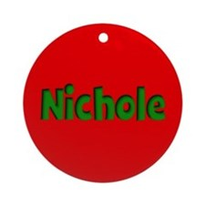 Nichole Red and Green Ornament (Round)