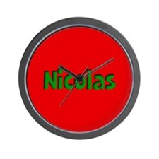 Nicolas Red and Green Wall Clock
