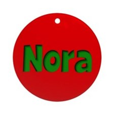 Nora Red and Green Ornament (Round)