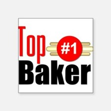 "Top Baker Square Sticker 3"" x 3"""