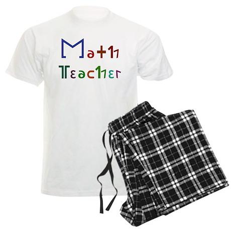Math Teacher Men's Light Pajamas