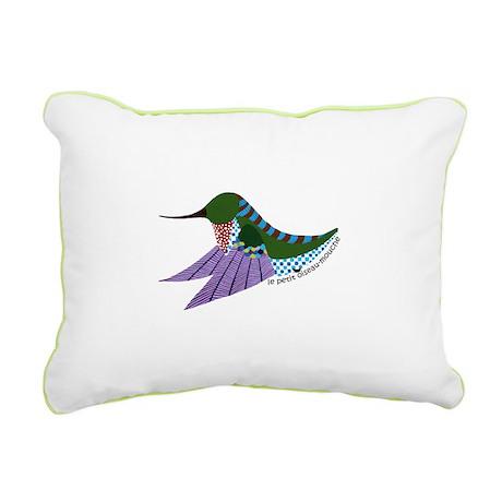oiseau-mouche no. 1 Rectangular Canvas Pillow