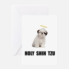 Holy Shih Tzu Greeting Card