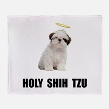 Holy Shih Tzu Throw Blanket