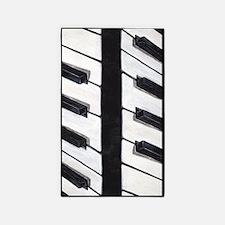 Black And White Piano Board 3'x5' Area Rug