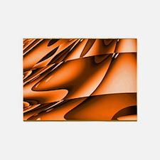Abstract Burnt Orange 5'x7'Area Rug