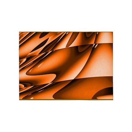 Abstract Burnt Orange 5u0027x7u0027Area Rug