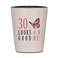 30th Birthday Butterfly Shot Glass