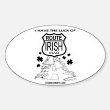 Route Irish 3 Oval Decal