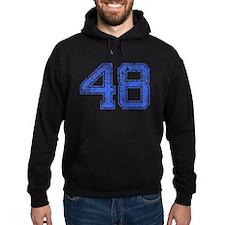 48, Blue, Vintage Hoodie