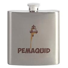Pemaquid Beach - Lighthouse Design. Flask