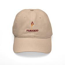 Pemaquid Beach - Lighthouse Design. Baseball Cap