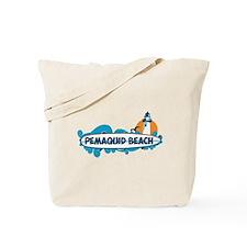 Pemaquid Beach - Surf Design. Tote Bag