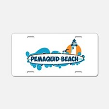 Pemaquid Beach - Surf Design. Aluminum License Pla