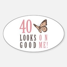 40th Birthday Butterfly Decal