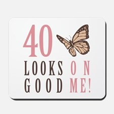 40th Birthday Butterfly Mousepad