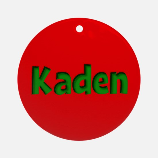 Kaden Red and Green Ornament (Round)