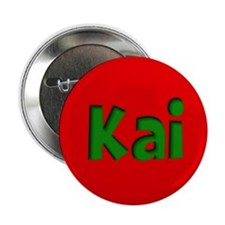 "Kai Red and Green 2.25"" Button"