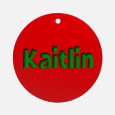 Kaitlin Red and Green Ornament (Round)