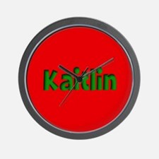 Kaitlin Red and Green Wall Clock