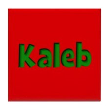 Kaleb Red and Green Tile Coaster