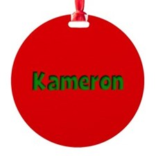 Kameron Red and Green Ornament