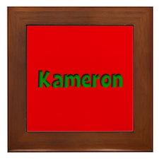 Kameron Red and Green Framed Tile