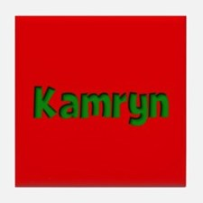 Kamryn Red and Green Tile Coaster