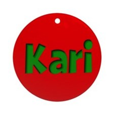 Kari Red and Green Ornament (Round)