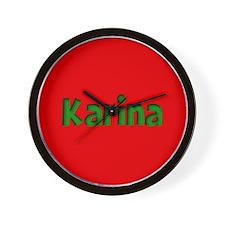 Karina Red and Green Wall Clock