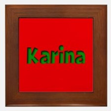 Karina Red and Green Framed Tile