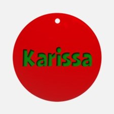 Karissa Red and Green Ornament (Round)