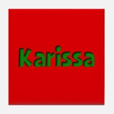 Karissa Red and Green Tile Coaster
