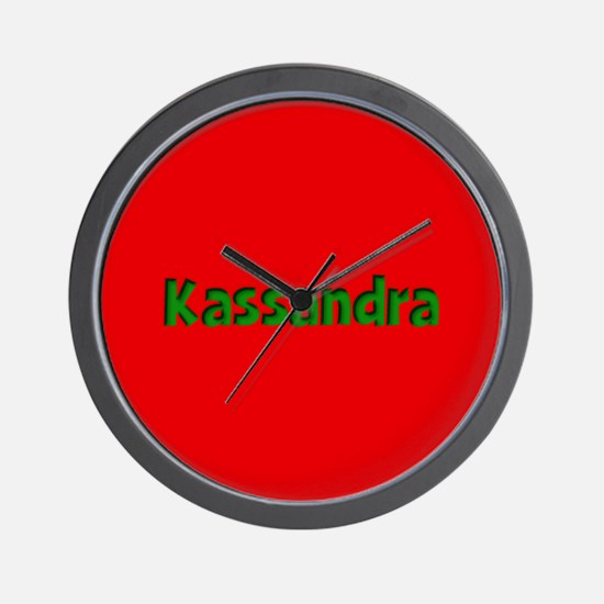 Kassandra Red and Green Wall Clock