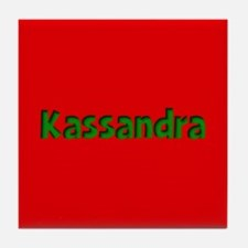 Kassandra Red and Green Tile Coaster