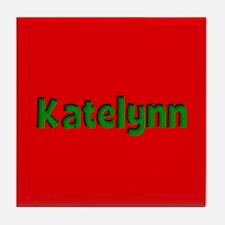 Katelynn Red and Green Tile Coaster