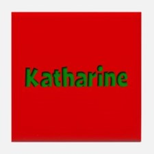 Katharine Red and Green Tile Coaster