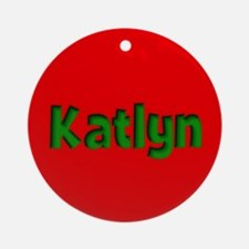 Katlyn Red and Green Ornament (Round)