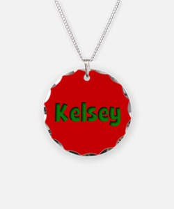 Kelsey Red and Green Necklace
