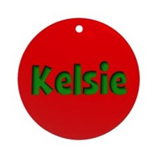 Kelsie Red and Green Ornament (Round)