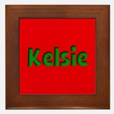 Kelsie Red and Green Framed Tile